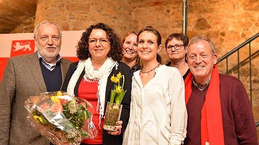 Gruppenbild nach der Nominierung der Landtagskandidatinnen für den Wahlkreis Leonberg/Herrenberg