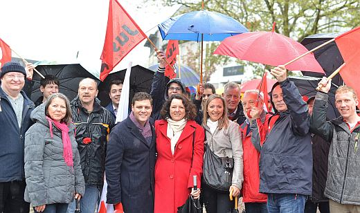 Bildmitte Angelika Klingel, Landtagskandidatin WK6, Links neben Ihr MdL Florian Wahl Rechts Jasmina Hostert- Sijercic